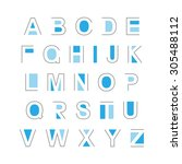 set of abstract alphabet... | Shutterstock .eps vector #305488112