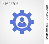 man and cog icon | Shutterstock .eps vector #305498006