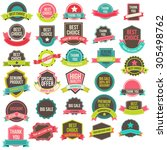 collection of labels and... | Shutterstock . vector #305498762