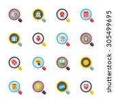 flat design modern vector... | Shutterstock .eps vector #305499695