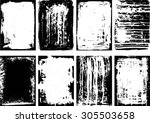 set of grunge frames and... | Shutterstock .eps vector #305503658