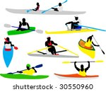 canoe and kayak rowers...   Shutterstock .eps vector #30550960