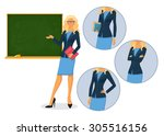 vector illustration of female... | Shutterstock .eps vector #305516156