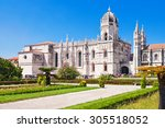 the jeronimos monastery or... | Shutterstock . vector #305518052