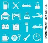 car service icon set. auto wash ... | Shutterstock . vector #305531216