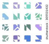 abstract seamless geometric... | Shutterstock . vector #305531432
