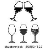 set of wineglass icons