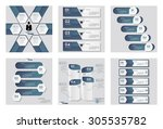 collection of 6 blue color...   Shutterstock .eps vector #305535782