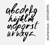 hand drawn alphabet | Shutterstock .eps vector #305538596