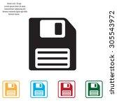 floppy disk icon | Shutterstock .eps vector #305543972