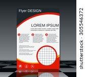 business flyer template.... | Shutterstock .eps vector #305546372