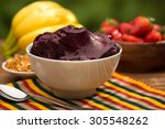 acai fruit amazon in the bowl | Shutterstock . vector #305548262