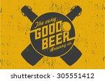 vector beer poster. | Shutterstock .eps vector #305551412