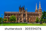 the metropolitan cathedral of... | Shutterstock . vector #305554376