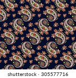 seamless pattern based on... | Shutterstock .eps vector #305577716