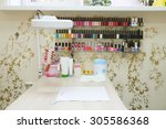 interior of a manicure office | Shutterstock . vector #305586368