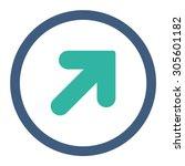 arrow up right vector icon.... | Shutterstock .eps vector #305601182