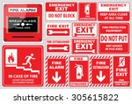 set of fire alarm  fire alarm ... | Shutterstock .eps vector #305615822
