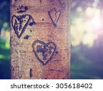 Some Carvings Of Hearts And...