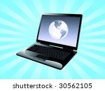 world in the computer as symbol ... | Shutterstock .eps vector #30562105