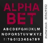 decorative alphabet font. sans... | Shutterstock .eps vector #305629352