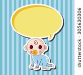 person character baby theme...   Shutterstock .eps vector #305630306