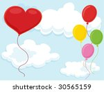 isolated set of balloons on... | Shutterstock .eps vector #30565159