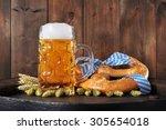 original bavarian oktoberfest...   Shutterstock . vector #305654018