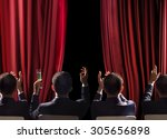 applause in the concert hall | Shutterstock . vector #305656898