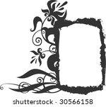 original black and white frame... | Shutterstock .eps vector #30566158
