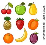 set fruit | Shutterstock .eps vector #30566626