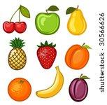 set fruit | Shutterstock .eps vector #30566626
