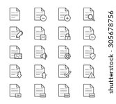 document icons line | Shutterstock .eps vector #305678756