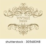 vintage frame | Shutterstock .eps vector #30568348