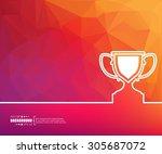 abstract creative concept... | Shutterstock .eps vector #305687072