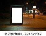 blank bus stop advertising... | Shutterstock . vector #305714462
