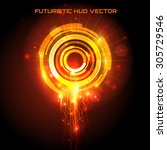 futuristic interface  hud  ... | Shutterstock .eps vector #305729546