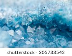 Small photo of Druse blue crystals Agate SiO2 silicon dioxide. Macro