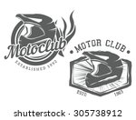 vintage motor club motocycle... | Shutterstock .eps vector #305738912