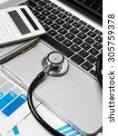 financial review | Shutterstock . vector #305759378