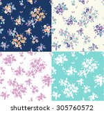 floral seamless vintage pattern ... | Shutterstock .eps vector #305760572