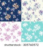 floral seamless vintage pattern ... | Shutterstock .eps vector #305760572