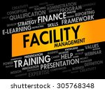 facility management word cloud  ... | Shutterstock .eps vector #305768348