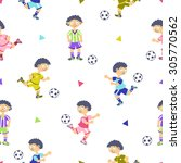 Soccer Player Seamless Pattern...