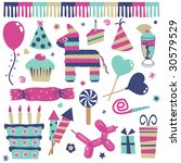 party decorations  balloons ... | Shutterstock .eps vector #30579529