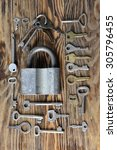 lock and key. | Shutterstock . vector #305796455