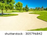 golf course with gorgeous green ... | Shutterstock . vector #305796842