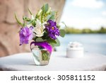 Purple Bouquet Of Flowers For ...