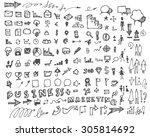 business doodles | Shutterstock .eps vector #305814692