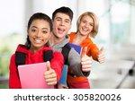 high school student. | Shutterstock . vector #305820026